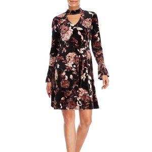 New Ivanka Trump Burgundy Floral Cocktail Dress